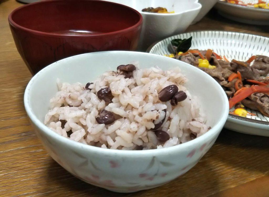 ホットクック レシピ【41,1】:茹で小豆〜小豆ご飯